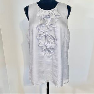 Ann Taylor Cotton/Silk Blend Sleeveless Top